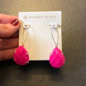 Kendra Scott hot pink statement earrings